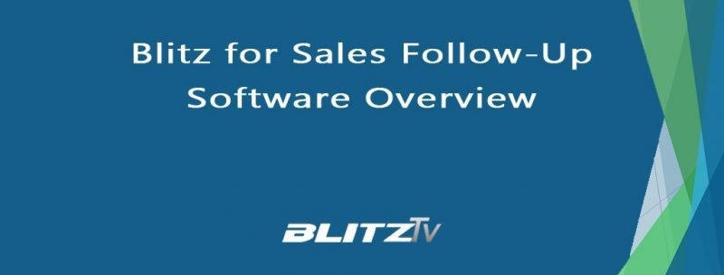 Blitz for Sales Follow-Up Overview