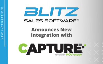 Blitz Sales Software Announces New Integration with Capture®