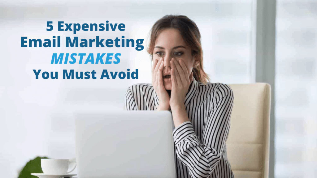 Woman shocked after making an expensive email marketing mistake